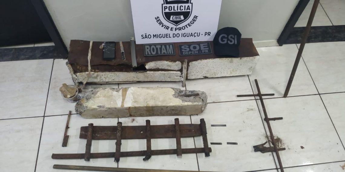 Oito presos tem tentativa de fuga frustrada em São Miguel do Iguaçu nesta madrugada